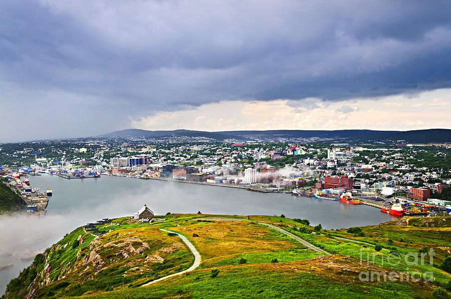 Cityscape Of Saint Johns From Signal Hill Photograph  - Cityscape Of Saint Johns From Signal Hill Fine Art Print