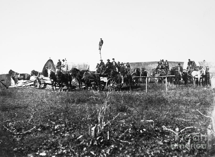 1864 Photograph - Civil War: Telegraph, 1864 by Granger