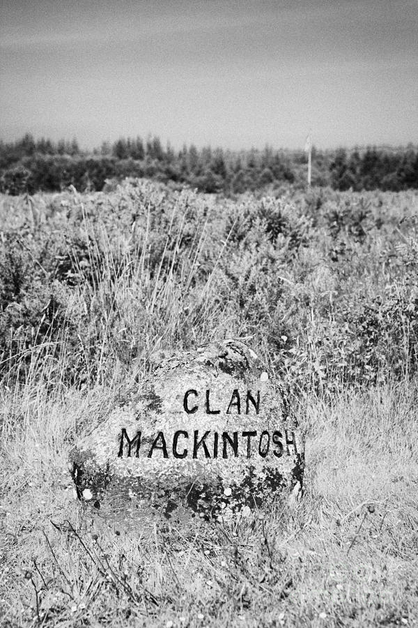clan mackintosh memorial stone on Culloden moor battlefield site highlands scotland Photograph