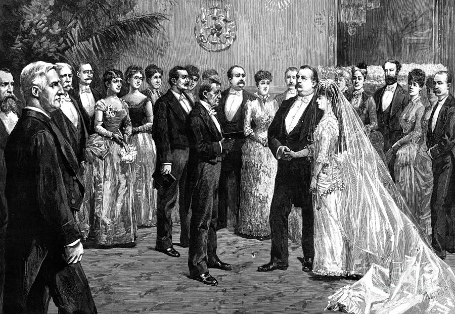 Cleveland Wedding, 1886 Photograph  - Cleveland Wedding, 1886 Fine Art Print