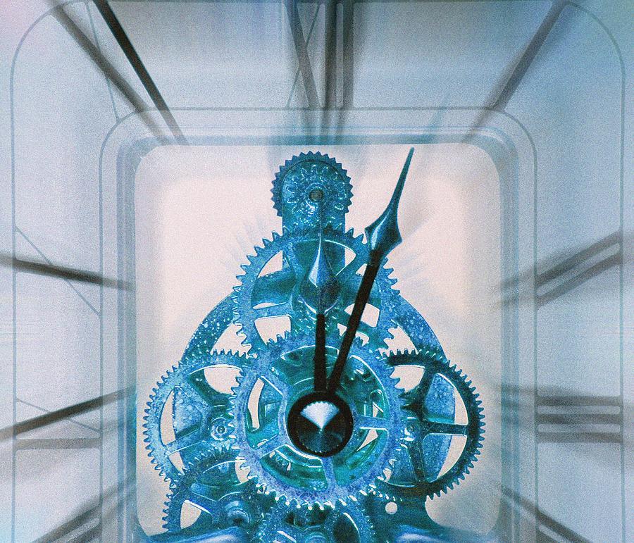 Clock Photograph - Clock Mechanism by Victor De Schwanberg