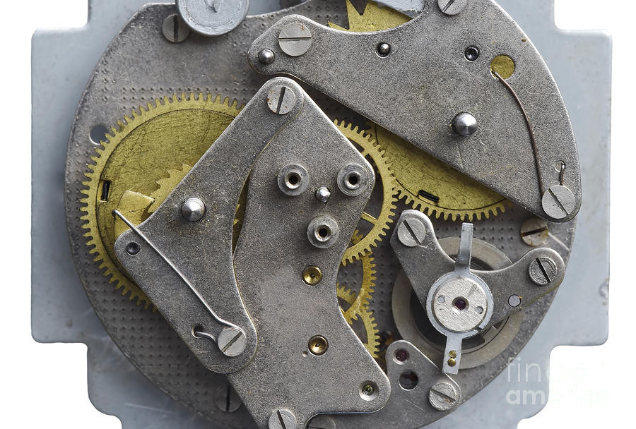 Clockwork Mechanism Photograph  - Clockwork Mechanism Fine Art Print