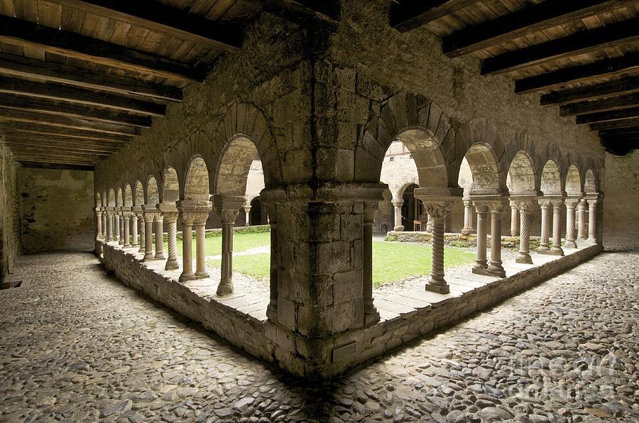 Cloister Of Lavaudieu. Haute Loire. Auvergne Photograph