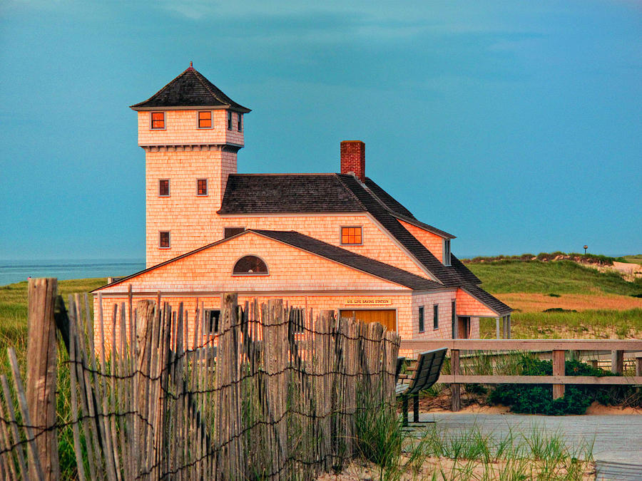 Coast Guard Station  At Race Point Photograph  - Coast Guard Station  At Race Point Fine Art Print