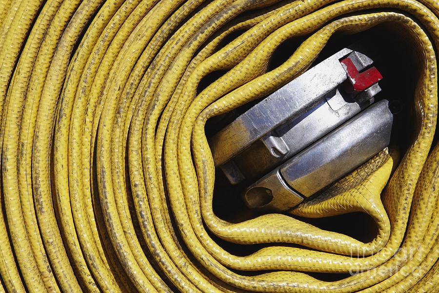 Coiled Fire Hose Photograph  - Coiled Fire Hose Fine Art Print