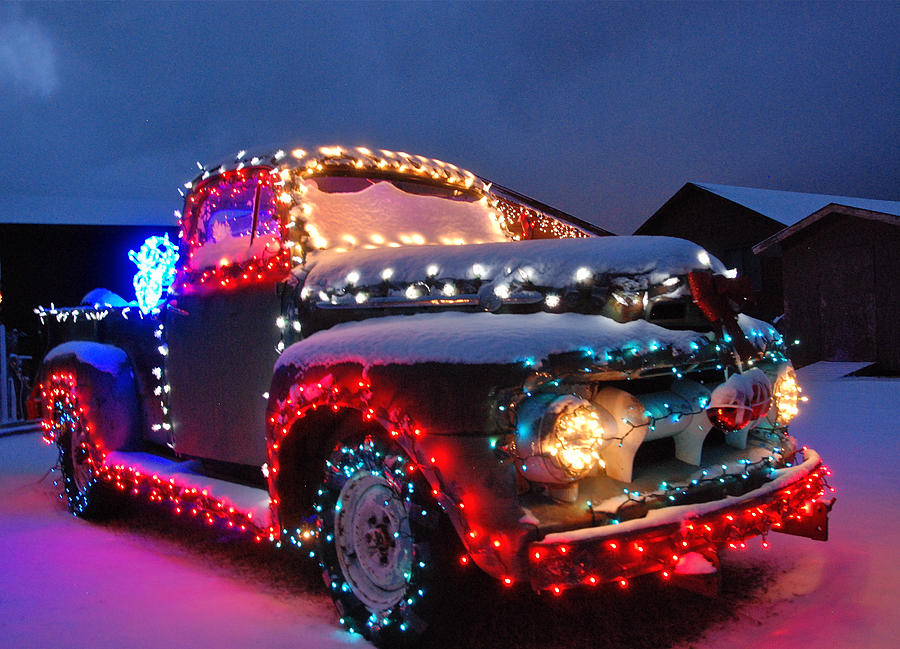 Colorado Christmas Truck Photograph