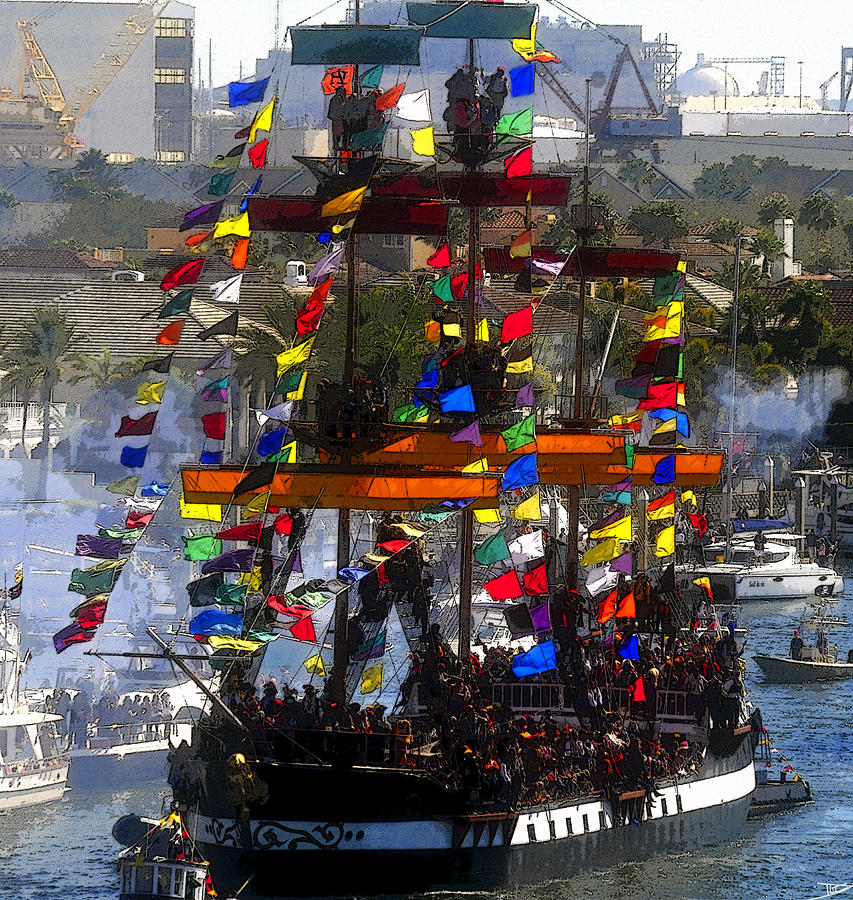 Colors Of Gasparilla Painting