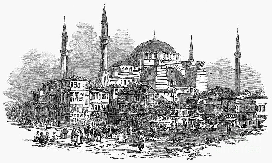 1853 Photograph - Constantinople: St. Sophia by Granger