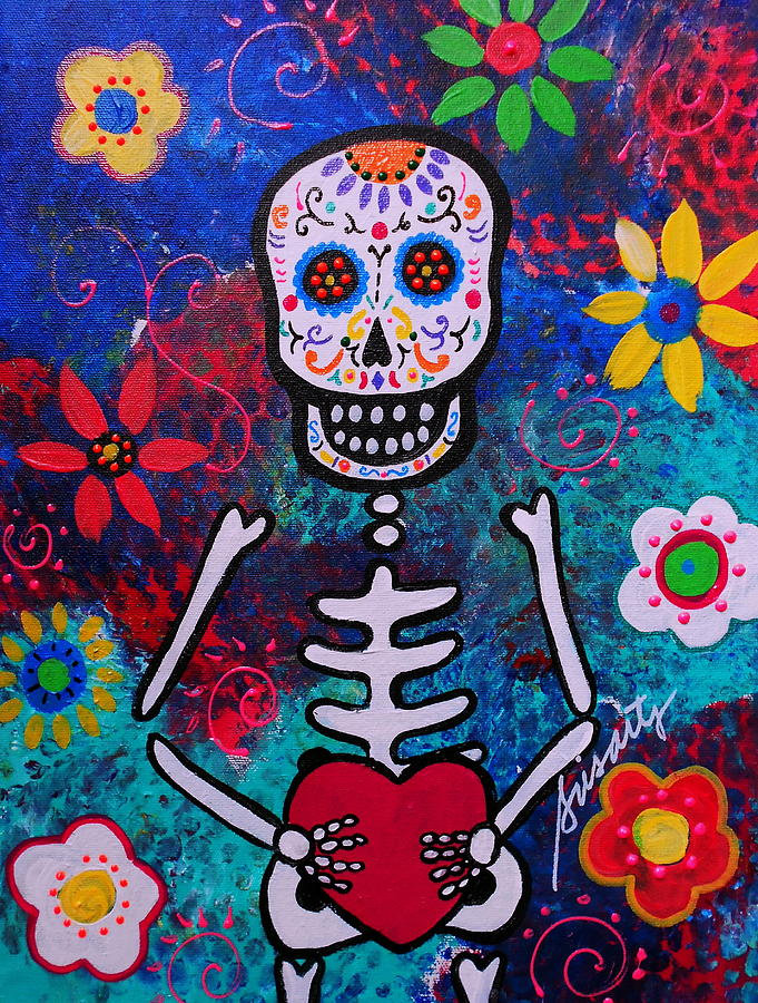 Corazon Day Of The Dead Painting