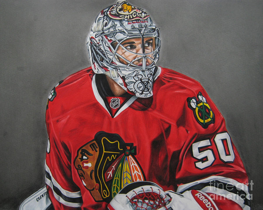 Corey Crawford Drawing  - Corey Crawford Fine Art Print