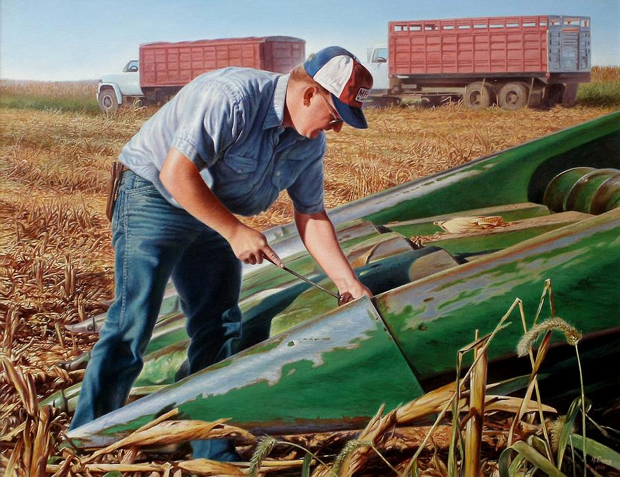 Corn Harvest Painting