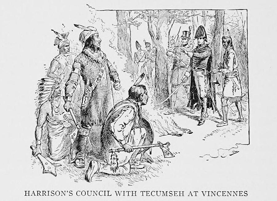 History Photograph - Council Of Vincennes Between General by Everett