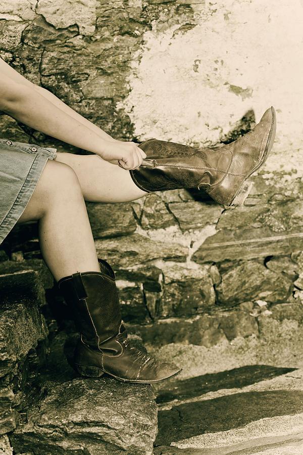 Legs Photograph - Cowboy Boots by Joana Kruse