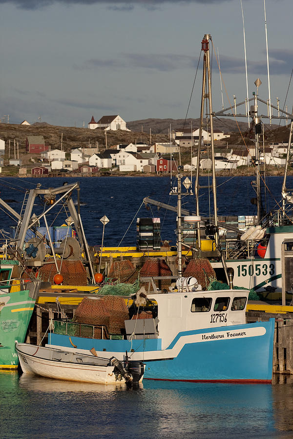Crab fishing boats joe batts arm fogo photograph by john for Crab fishing boat