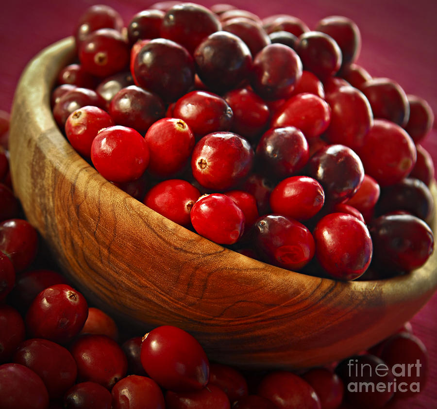 Cranberries In A Bowl Photograph