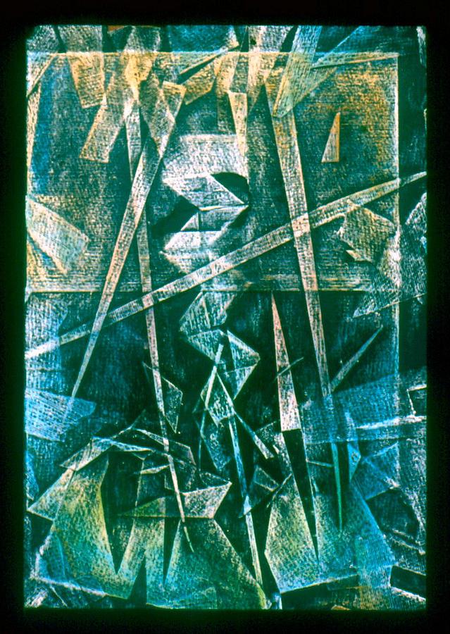 Folded Drawing - Crayolacomp B 1985 by Glenn Bautista