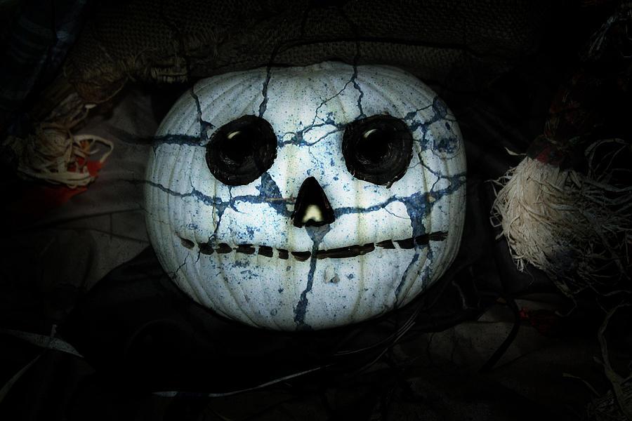 Creepy Halloween Pumpkin Mixed Media