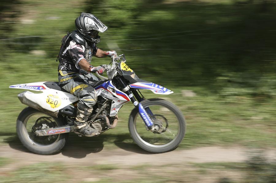 Cross Country Motorbike Racing Photograph