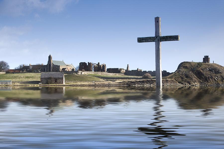 Cross In Water, Bewick, England Photograph