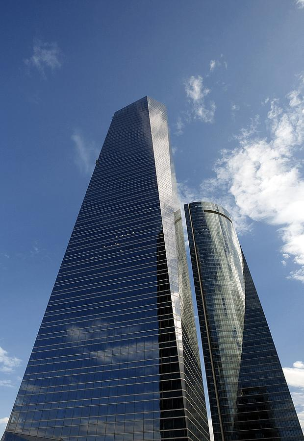 Ctba Skyscrapers, Madrid Photograph