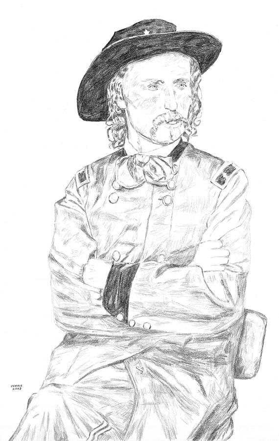 Custer Drawing