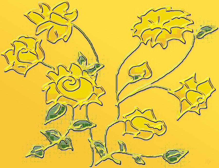 Daffodils Digital Art  - Daffodils Fine Art Print