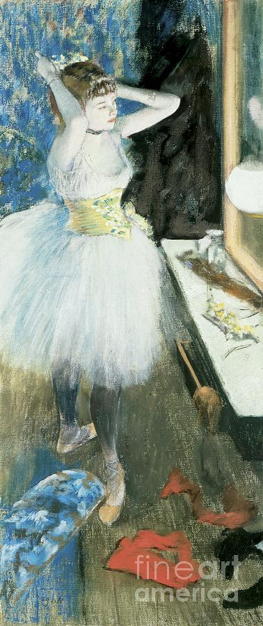 Dancer In Her Dressing Room Pastel - Dancer In Her Dressing Room by Edgar Degas