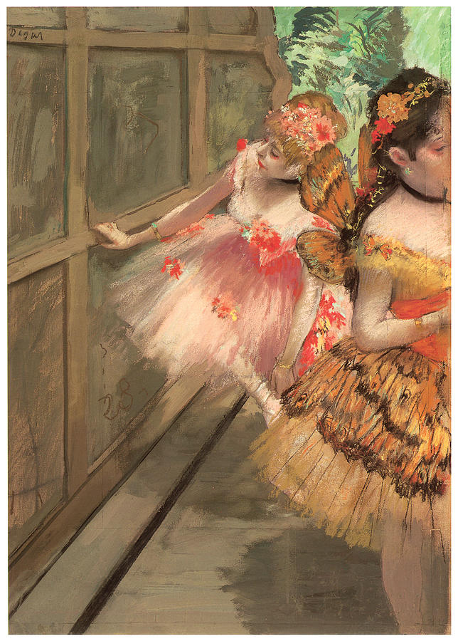 Dancers In The Wings Painting  - Dancers In The Wings Fine Art Print