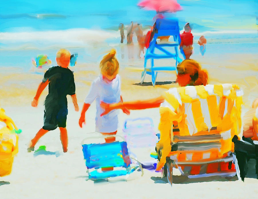 Day At The Beach Mixed Media