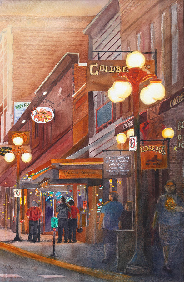 Deadwood Nights Painting  - Deadwood Nights Fine Art Print