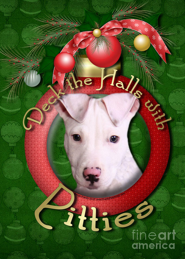 Deck The Halls With Pitbulls Digital Art