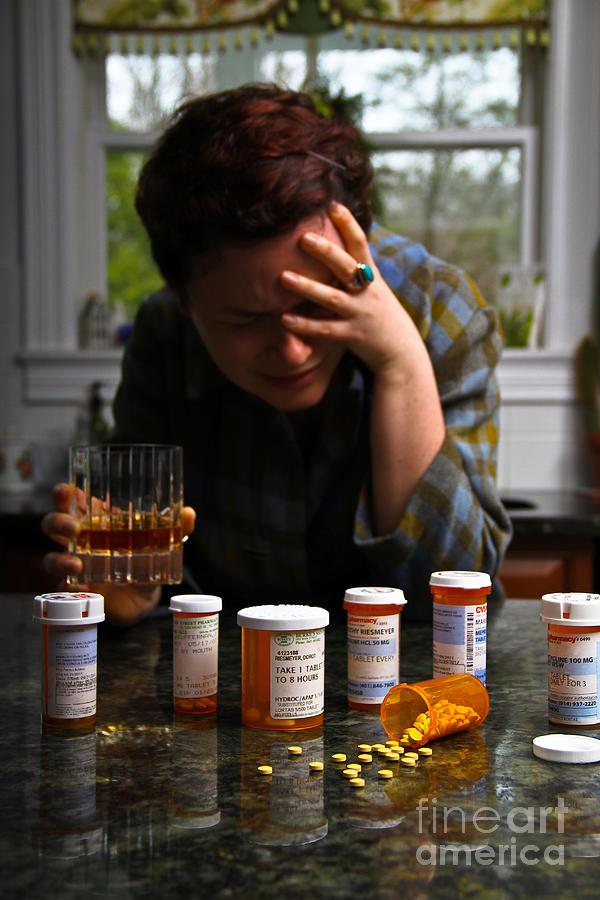 Depression And Addiction Photograph