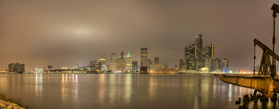 Detroit At Night Photograph