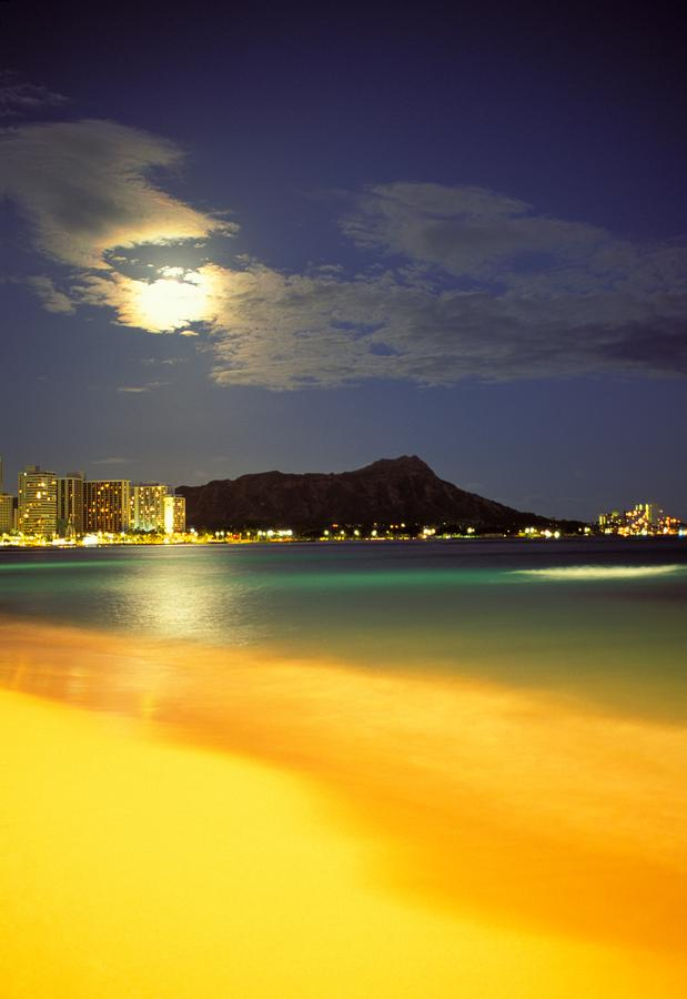 Diamond Head And Waikiki Photograph  - Diamond Head And Waikiki Fine Art Print
