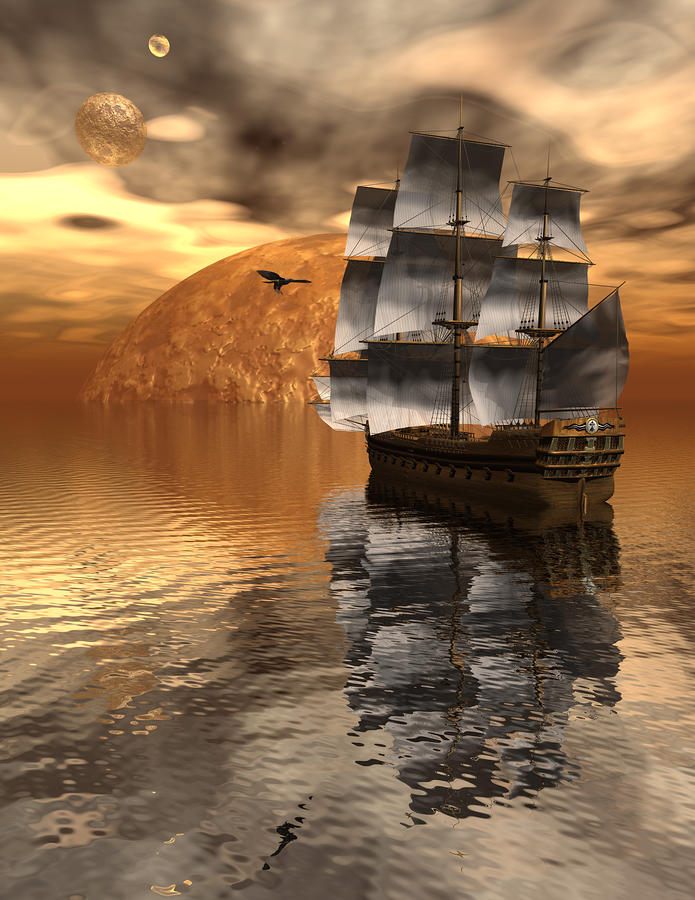Distant Voyage 2 Digital Art