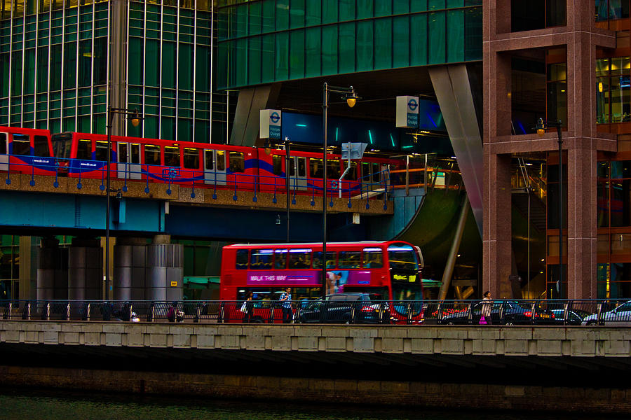 Canary Wharf Photograph - Docklands London by Dawn OConnor