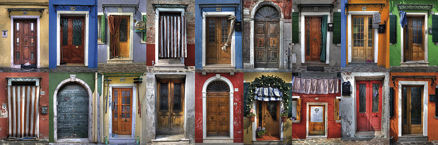 doors and windows of Burano - Venice Photograph
