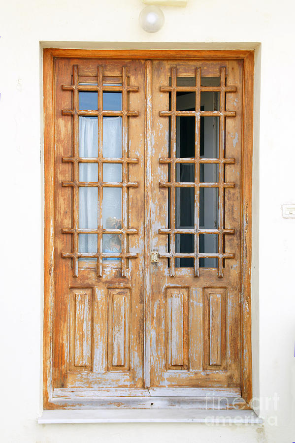 Doors In Greece Photograph  - Doors In Greece Fine Art Print