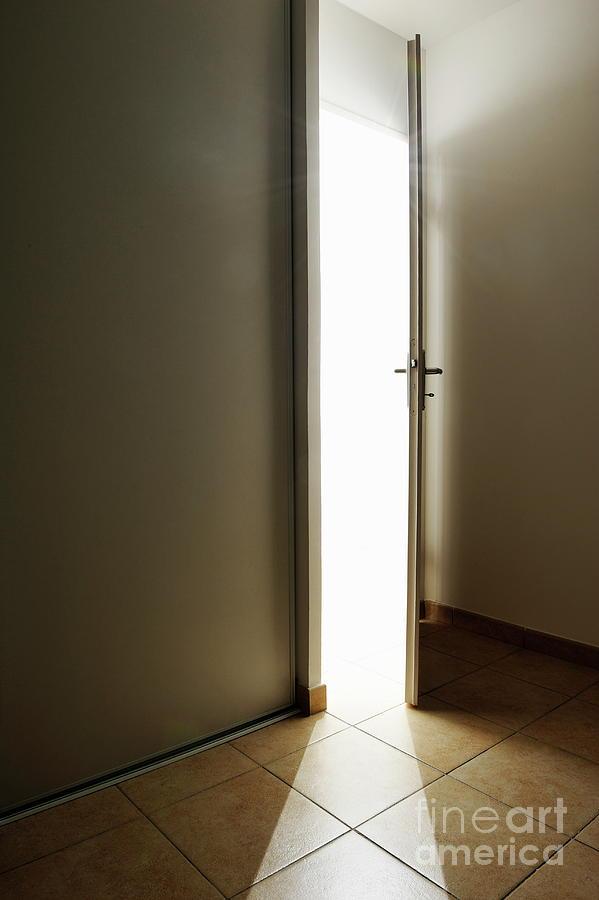Anticipation Photograph - Doorway Left Ajar by Sami Sarkis