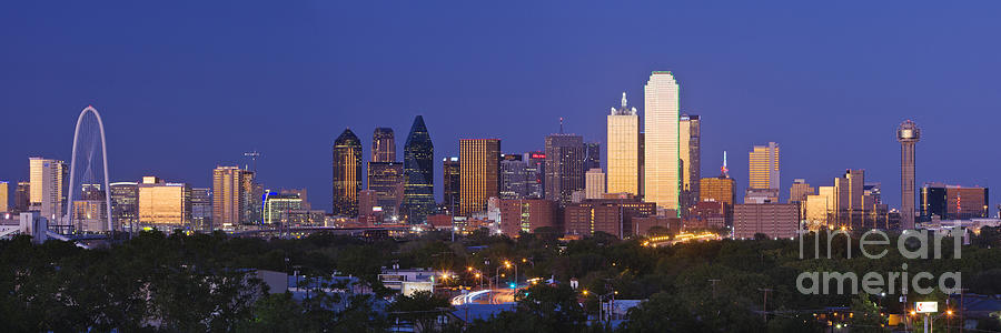 Downtown Dallas Skyline At Dusk Photograph  - Downtown Dallas Skyline At Dusk Fine Art Print