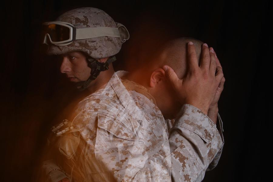 Dramatization Of A Us Marine Affected Photograph