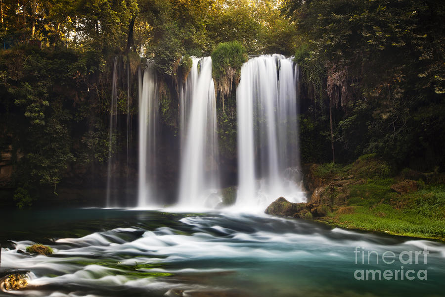 Duden Waterfalls Pastel  - Duden Waterfalls Fine Art Print