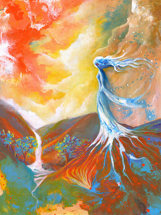 Earth Painting - Earth Angel by Valerie Graniou-Cook