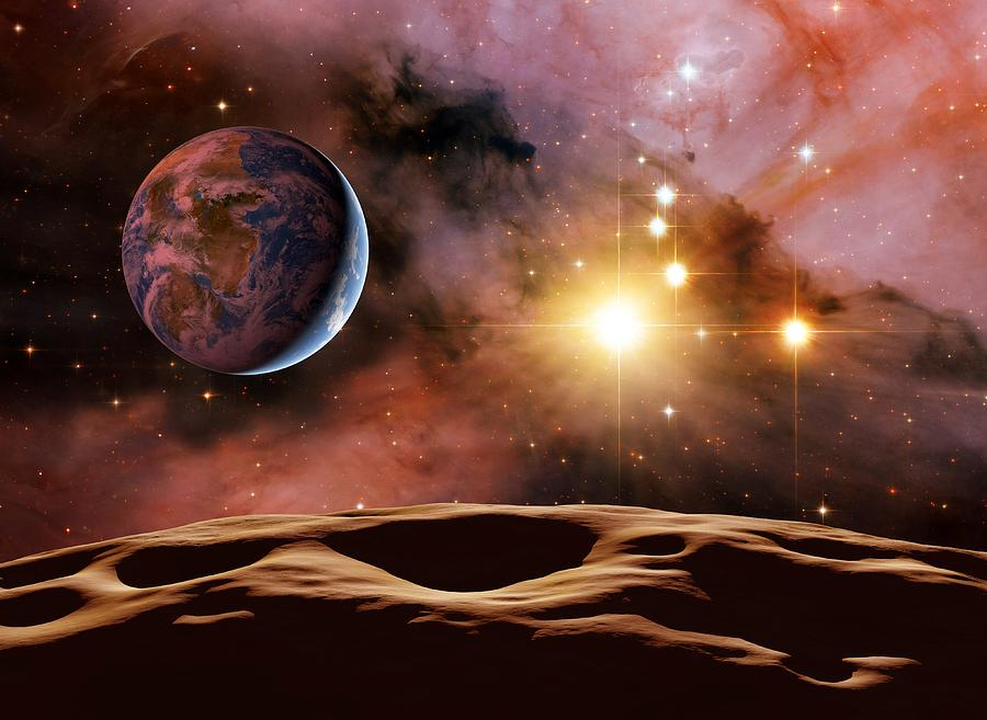 Earthlike Alien Planet, Artwork Photograph  - Earthlike Alien Planet, Artwork Fine Art Print