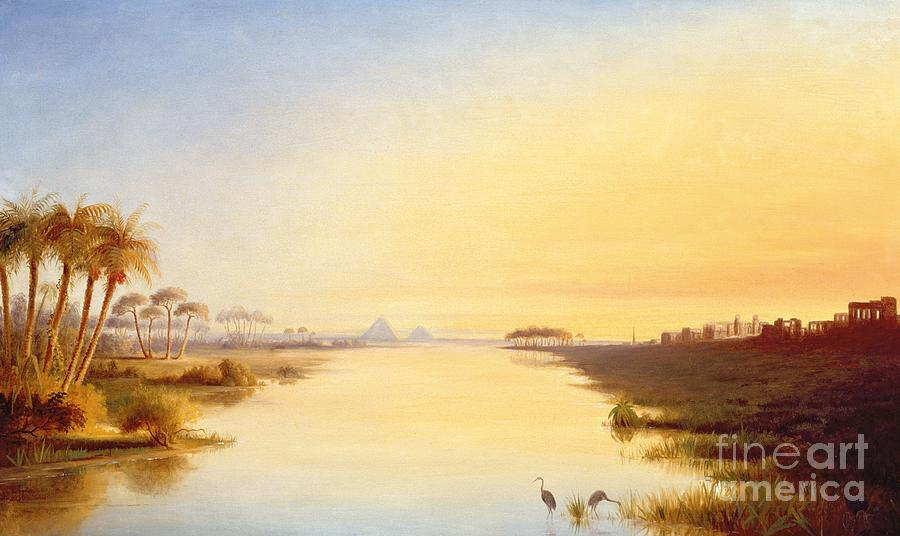 Egyptian Oasis Painting