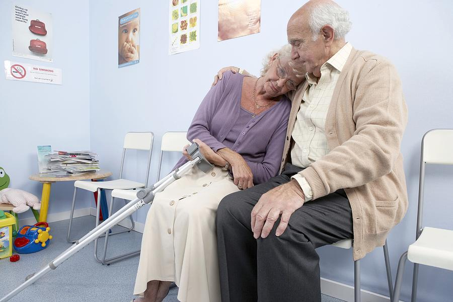 Crutches Photograph - Elderly Patients by Adam Gault