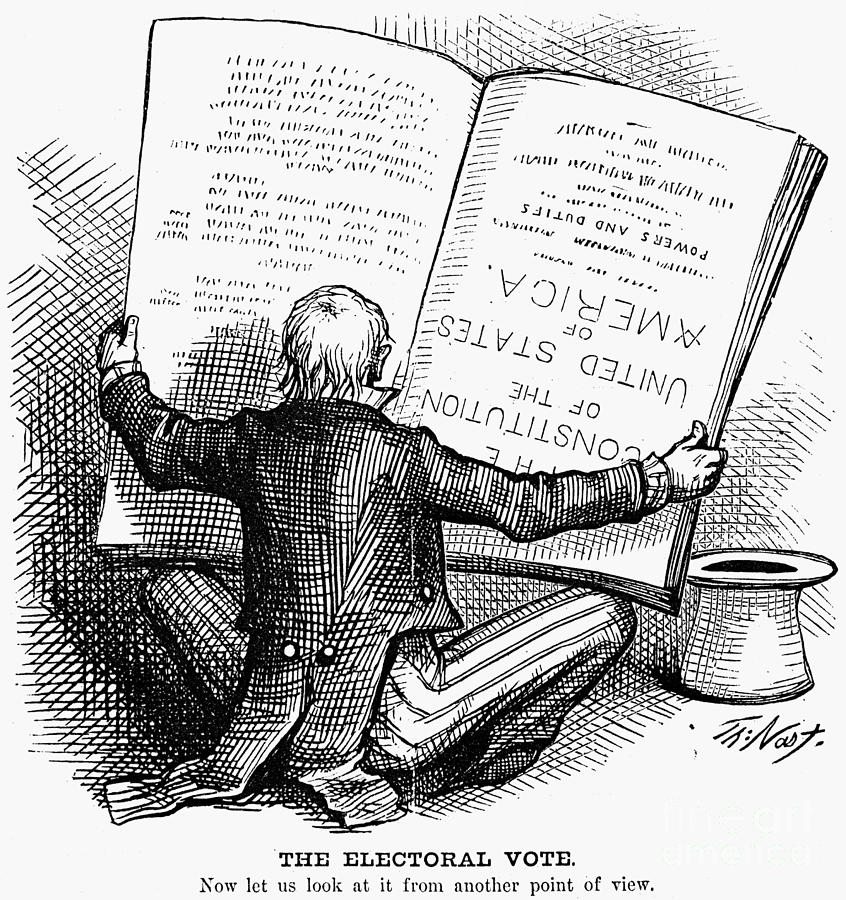 Election Cartoon, 1876 Photograph  - Election Cartoon, 1876 Fine Art Print