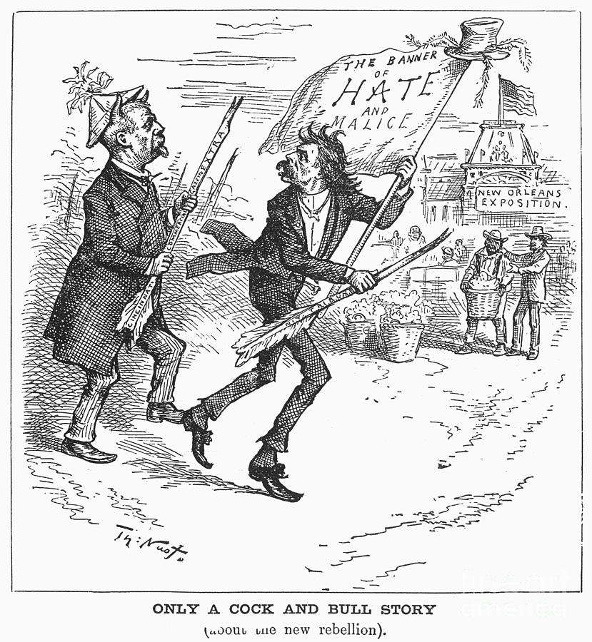 Election Cartoon, 1884 Photograph