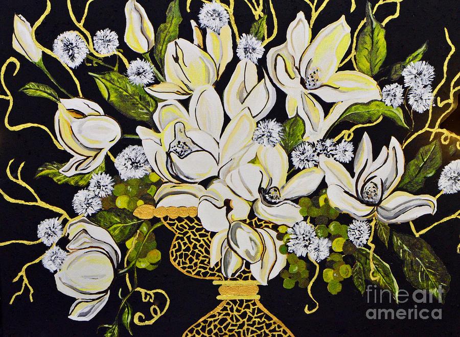 Flowers Painting - Elegance..... by Tanya Tanski