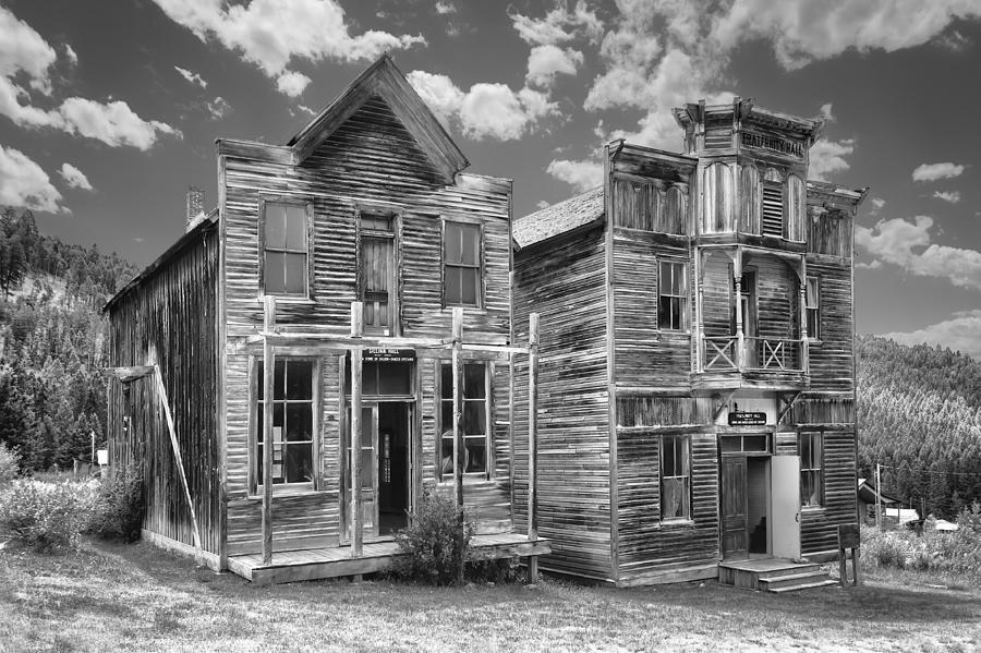 Elkhorn Photograph - Elkhorn Ghost Town Public Halls - Montana by Daniel Hagerman